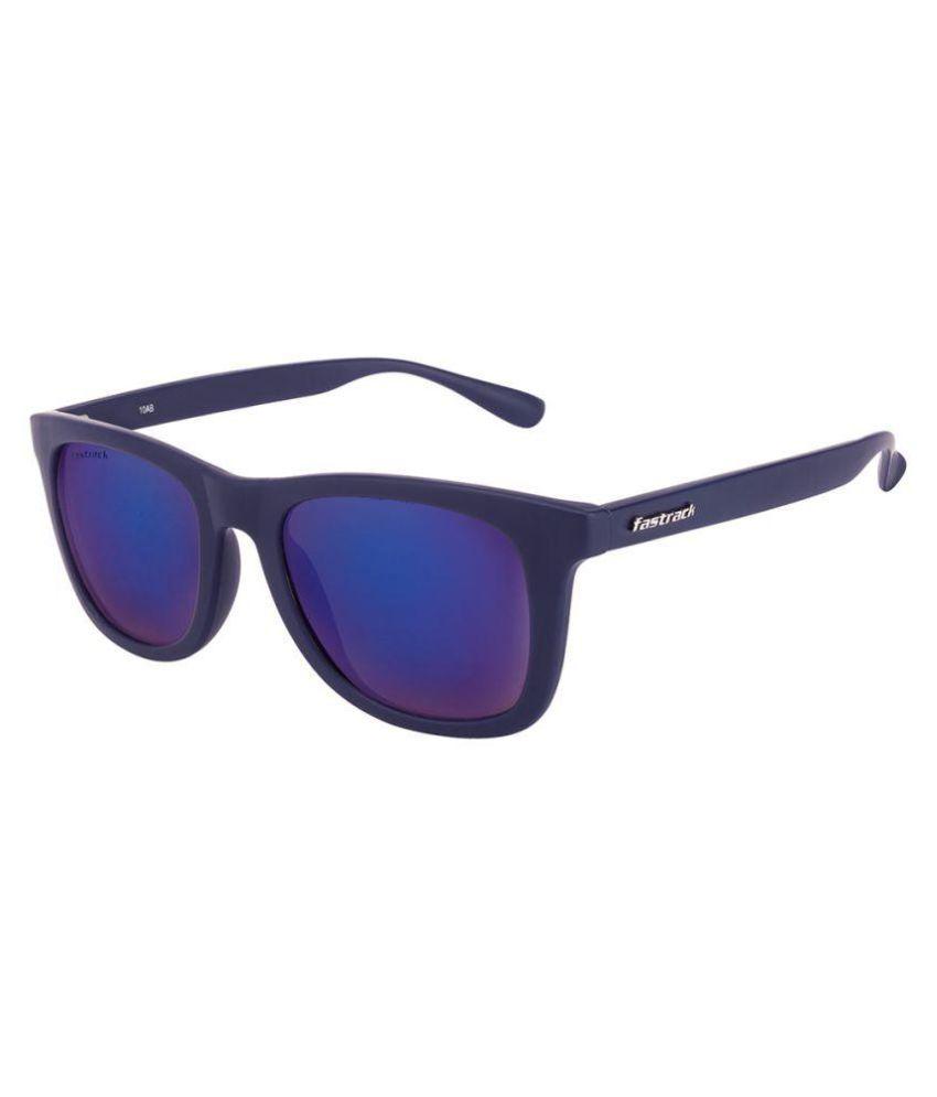 Fastrack Blue Butterfly Sunglasses ( p292BU2 )