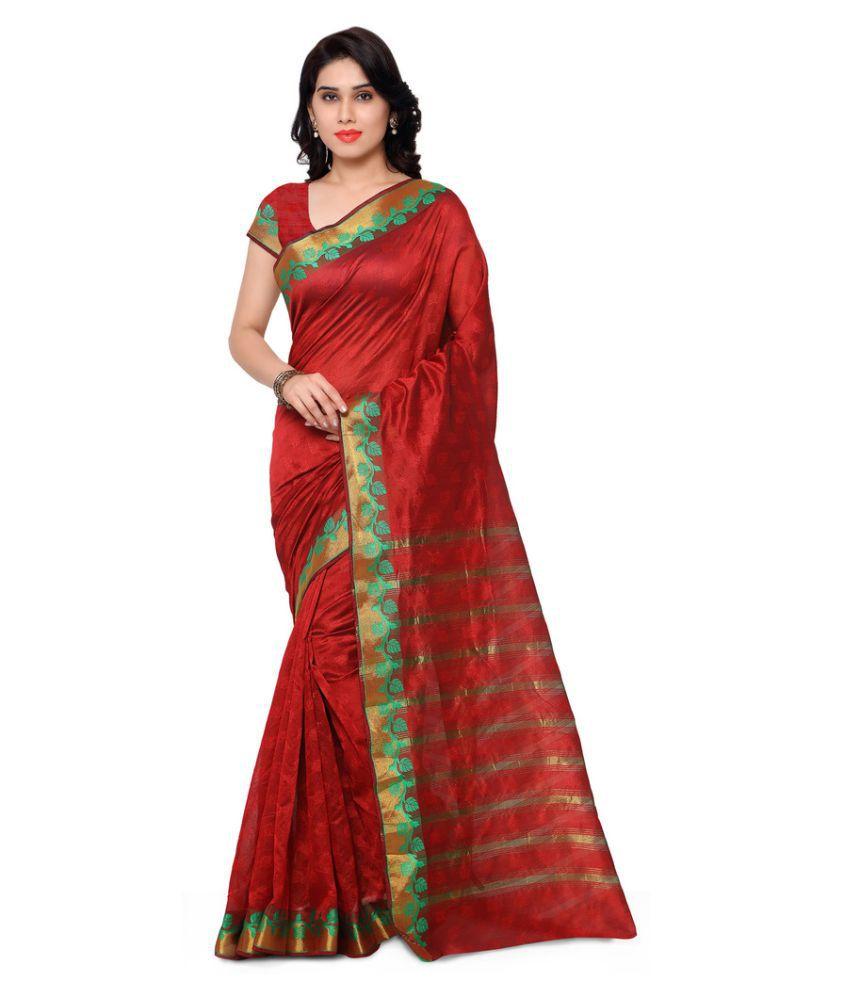 Urban Naari Red Banarasi Silk Saree