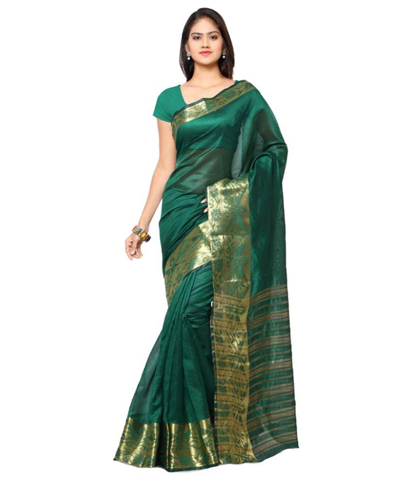 Varkala Silk Sarees Green Art Silk Saree