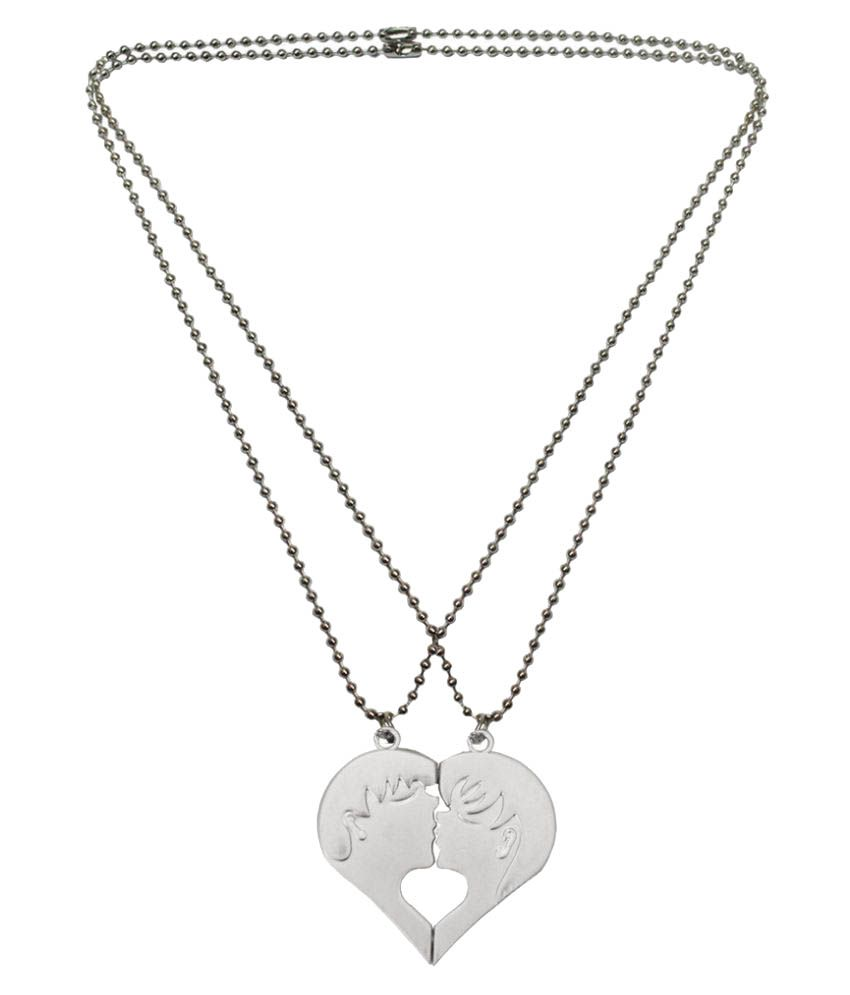 Mens Jewell Silver Pendant with Chain