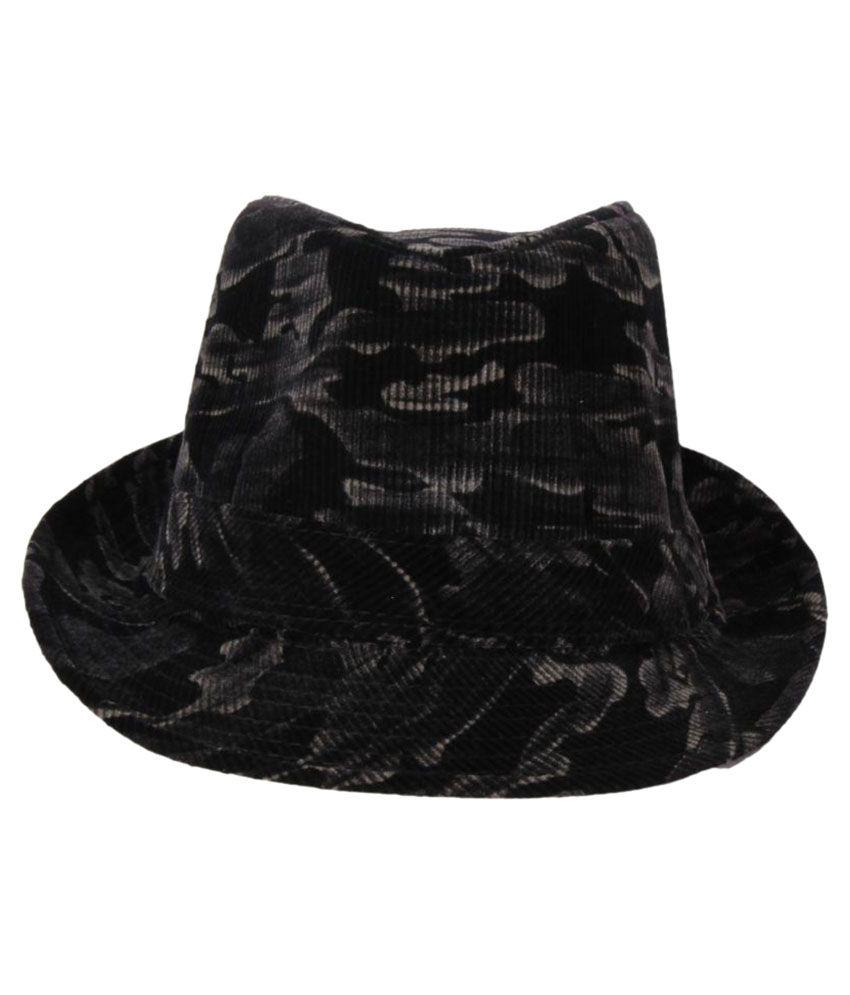Sushito Black Plain Polyester Hats