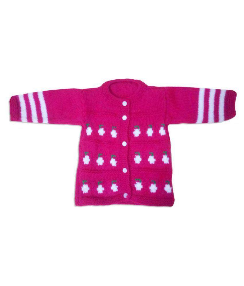 b67bca8c8 Dadima Ki Bunai Hand Knitted Pink Infant-Sweaters - Buy Dadima Ki ...