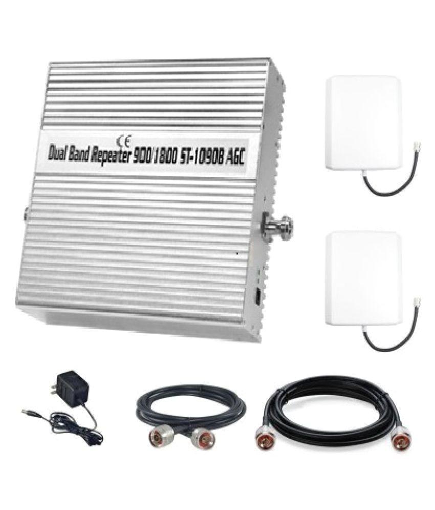 Lintratek 900-1800Mhz High Gain Dual Band Repaeter ST-1090B 3200 RJ11 White