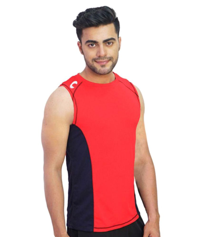 Arcley Red Polyester T-Shirt Single Pack