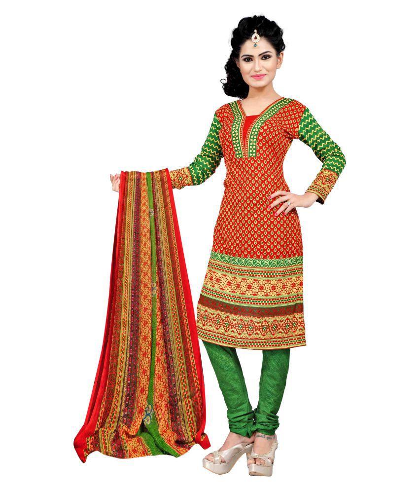 Merry Fashion Multicoloured Crepe Dress Material