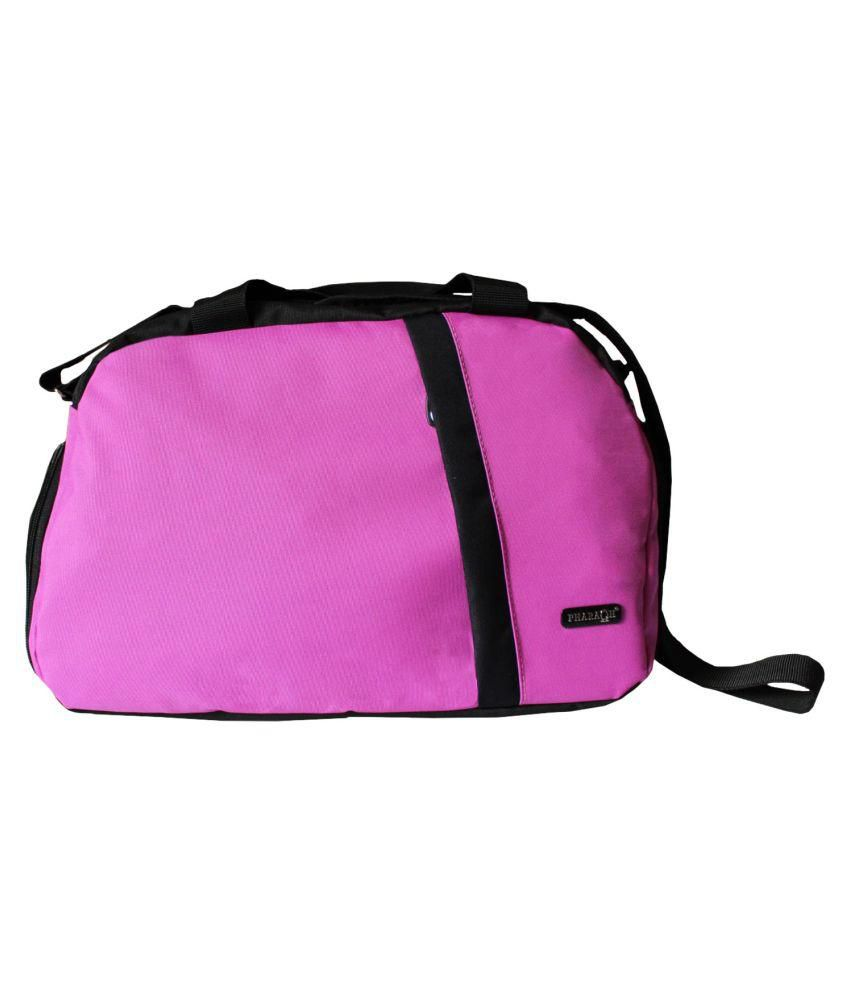 Pharaoh Pink Medium Fabric Gym Bag