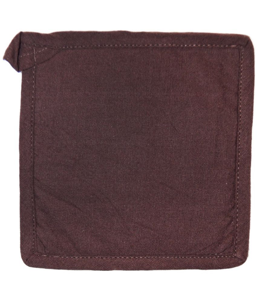 Ocean Collection Brown Square 100% Cotton Pot Holder