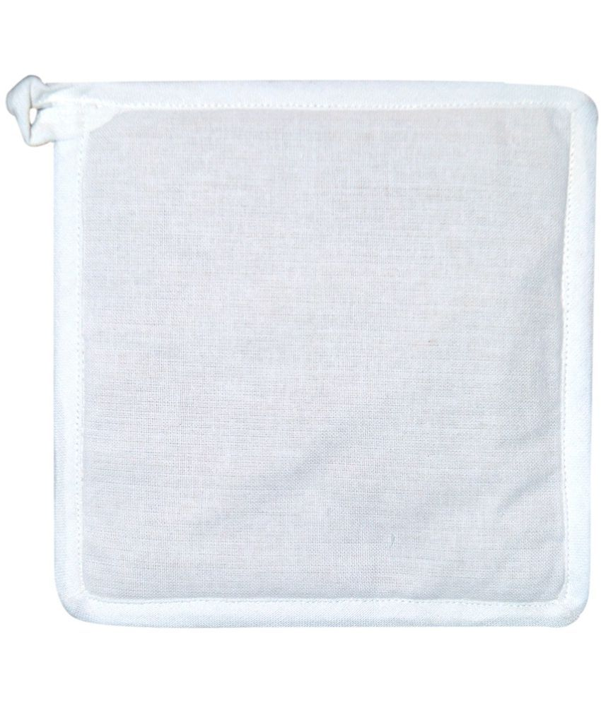 Ocean Collection White Cotton Square Pot Holder