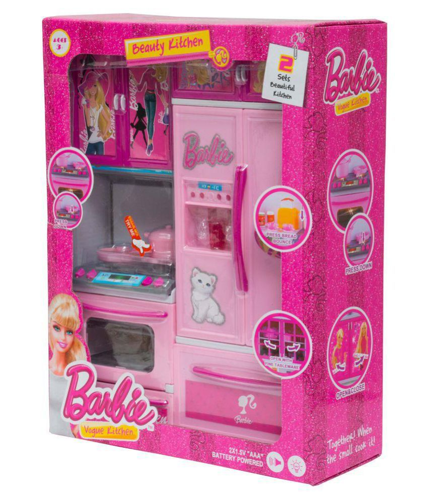 Aaryan enterprise barbie kitchen set buy aaryan for Kitchen set on flipkart