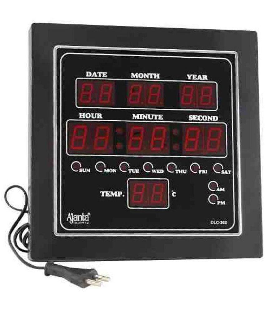 Ajanta Square Digital Wall Clock SachRetails302 0 Buy Ajanta