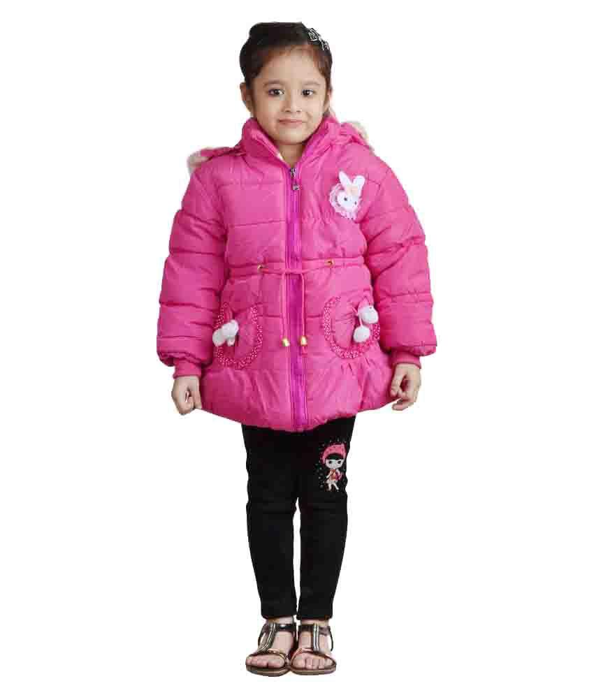 Crazeis Pink Nylon Jacket
