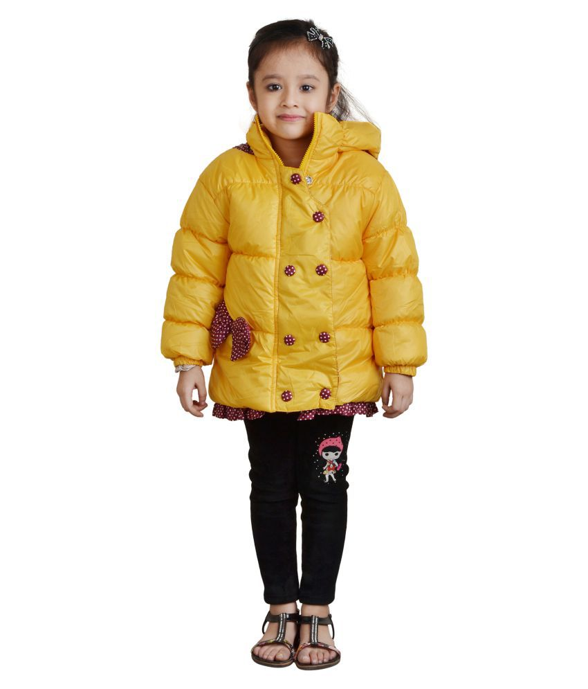 Crazeis Yellow Nylon Jacket