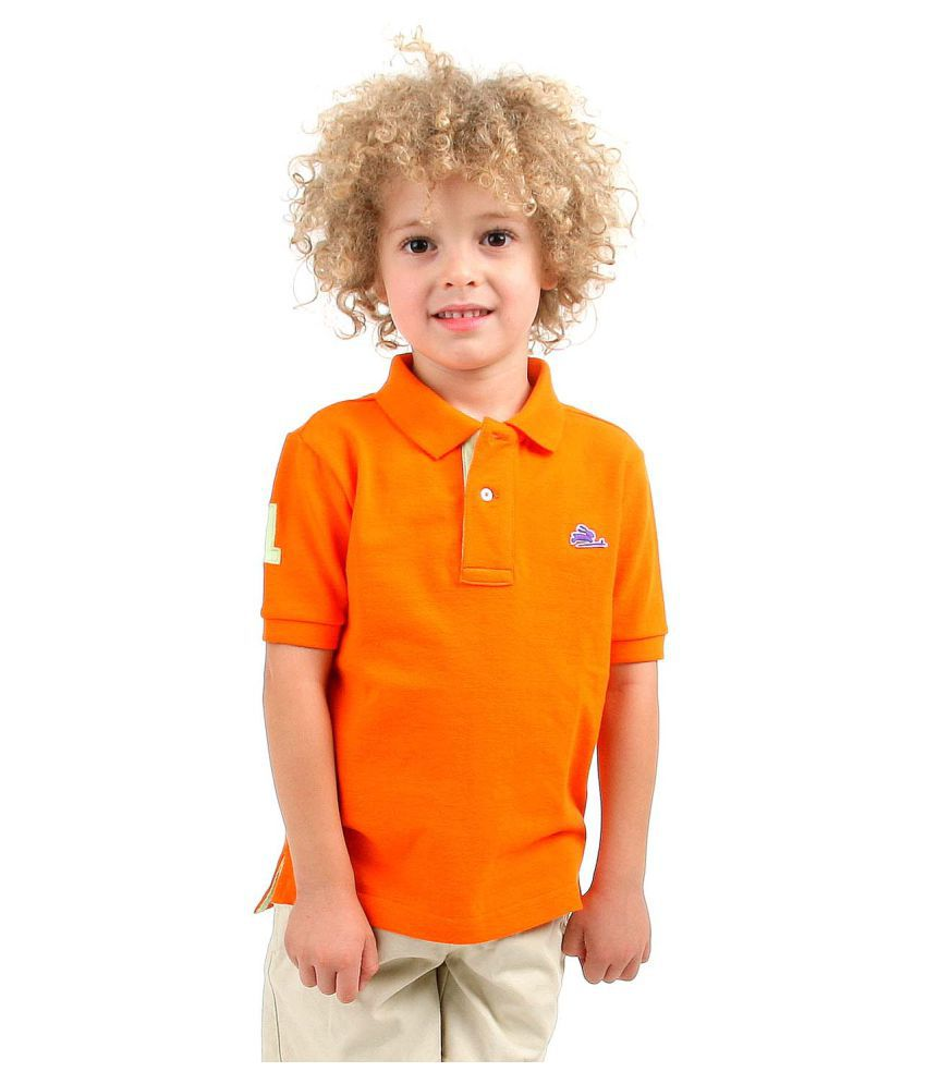 Cherry Crumble California Orange Cotton Polo T-Shirt