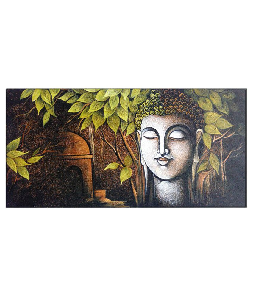 Craftsfest Vastu budha Canvas Painting Without Frame Single Piece