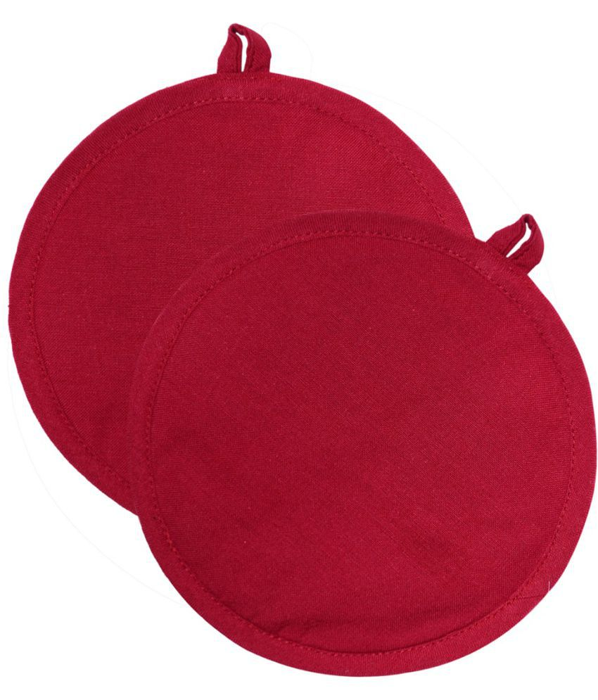 Beautiful Colors Red Pot Holder - Pack of 2