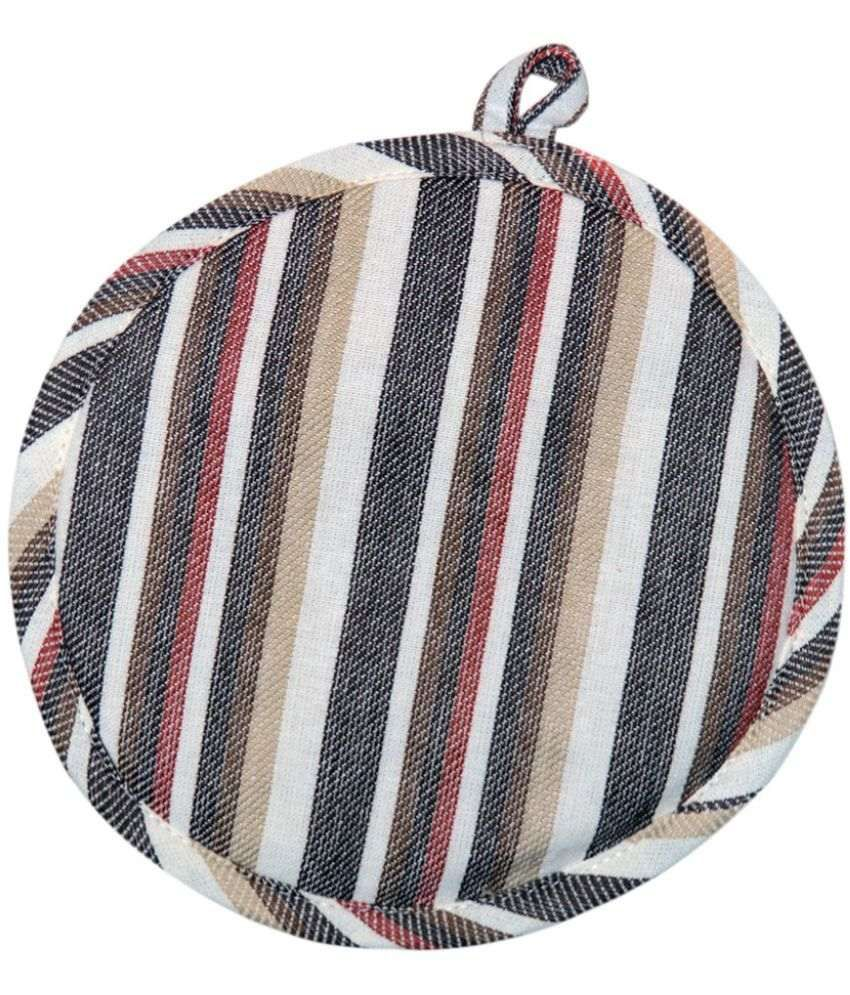 Chromatic Collections Multicolor Cotton Round Pot Holder