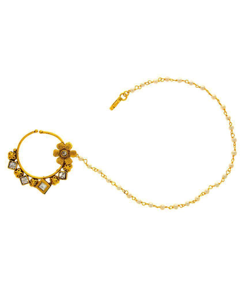 Anuradha Art Golden Alloy Nosering