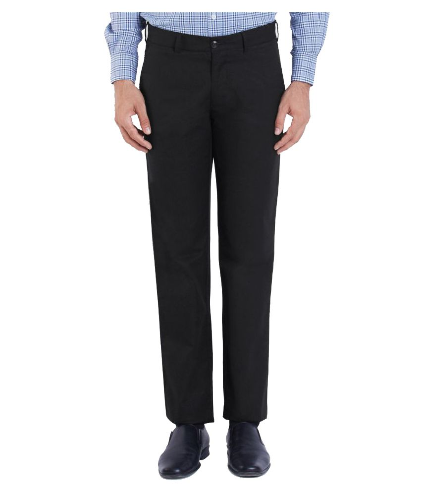 Colorplus Black Regular Flat Trouser