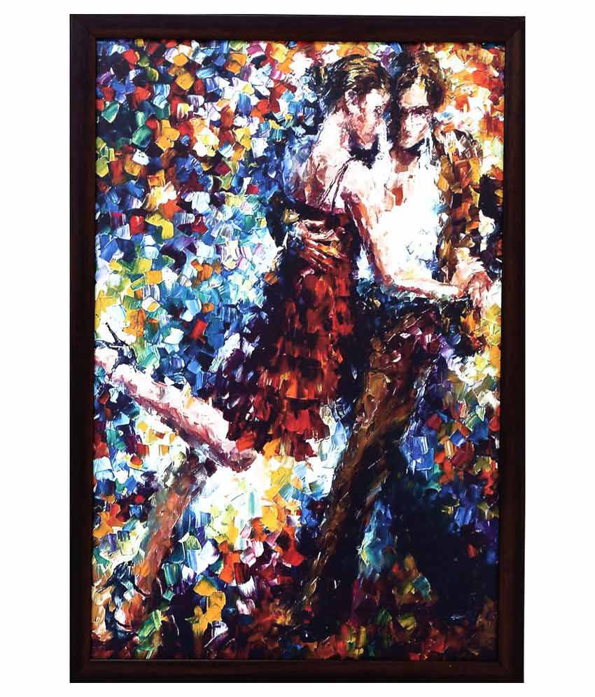 Reddock Fabric Painting With Frame Single Piece