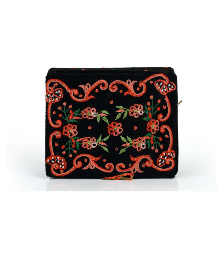 Soulful Threads Black Fabric Jewellery Box