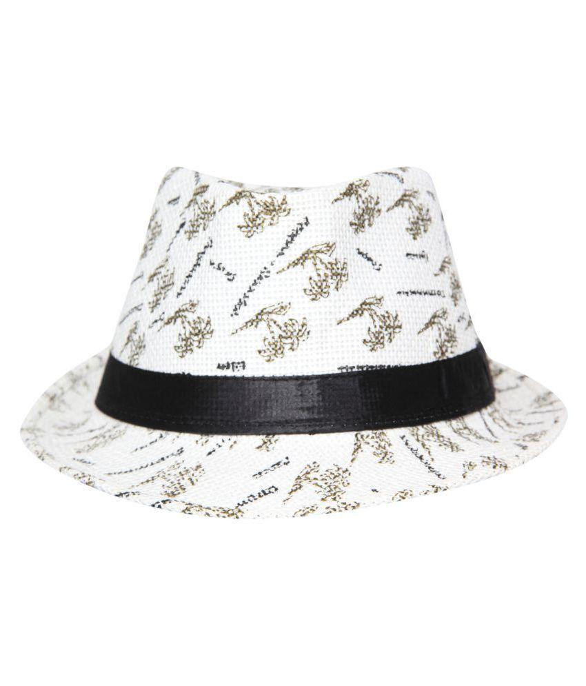 FabSeasons White Plain Polyester Hats