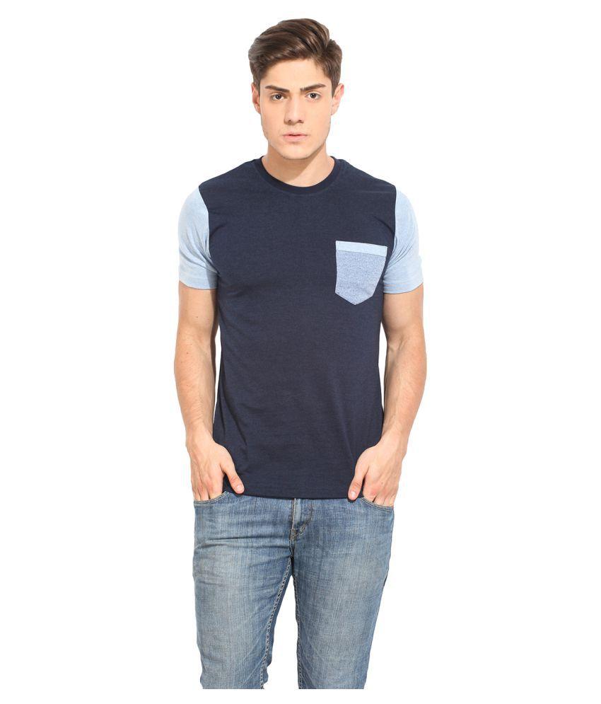 Western Vivid Blue Round T-Shirt