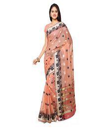 Varkala Silk Sarees Orange Chanderi Saree