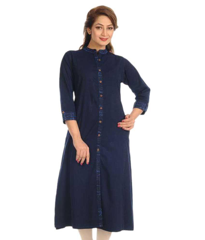 fc55203ed9 Innovative Denim Kurtis Blue Denim Shirt style Kurti - Buy Innovative Denim  Kurtis Blue Denim Shirt style Kurti Online at Best Prices in India on  Snapdeal