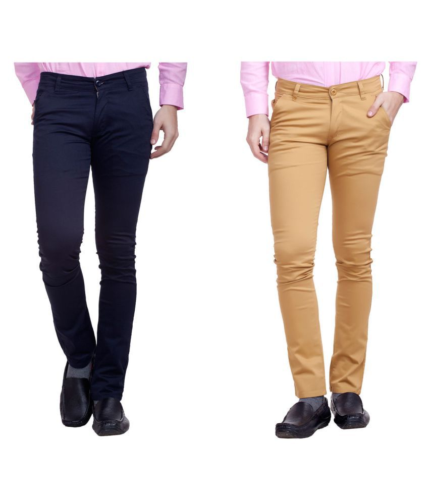 Nimegh Multicolored Slim Flat Trouser