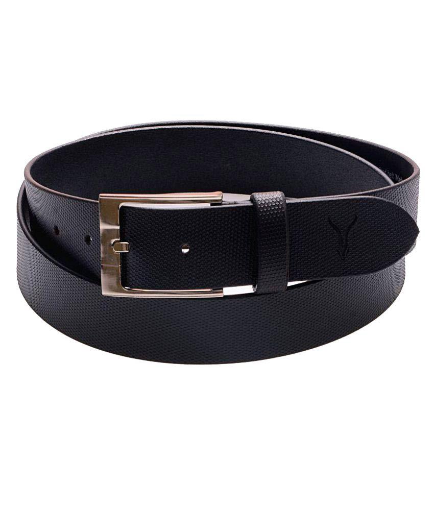 Virtuoso Black Leather Formal Belts
