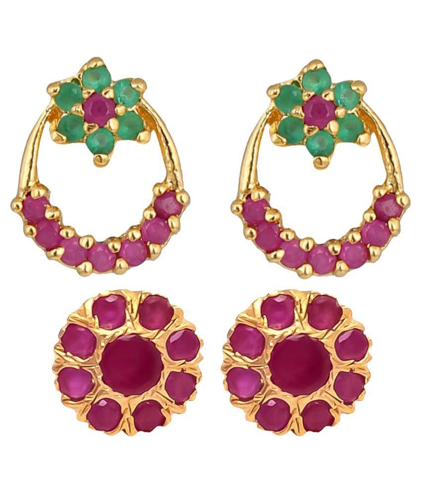 Efulgenz Multicolour Earrings Combo