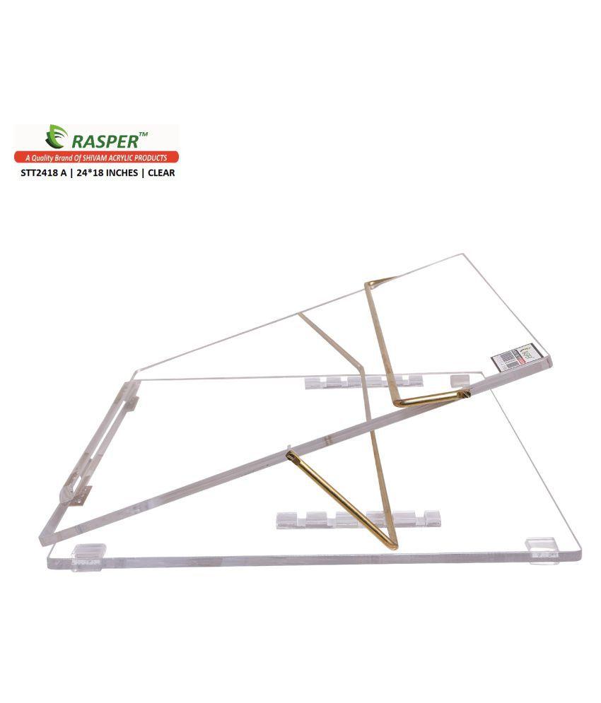 rasper transparent acrylic writing desk big size 24x18