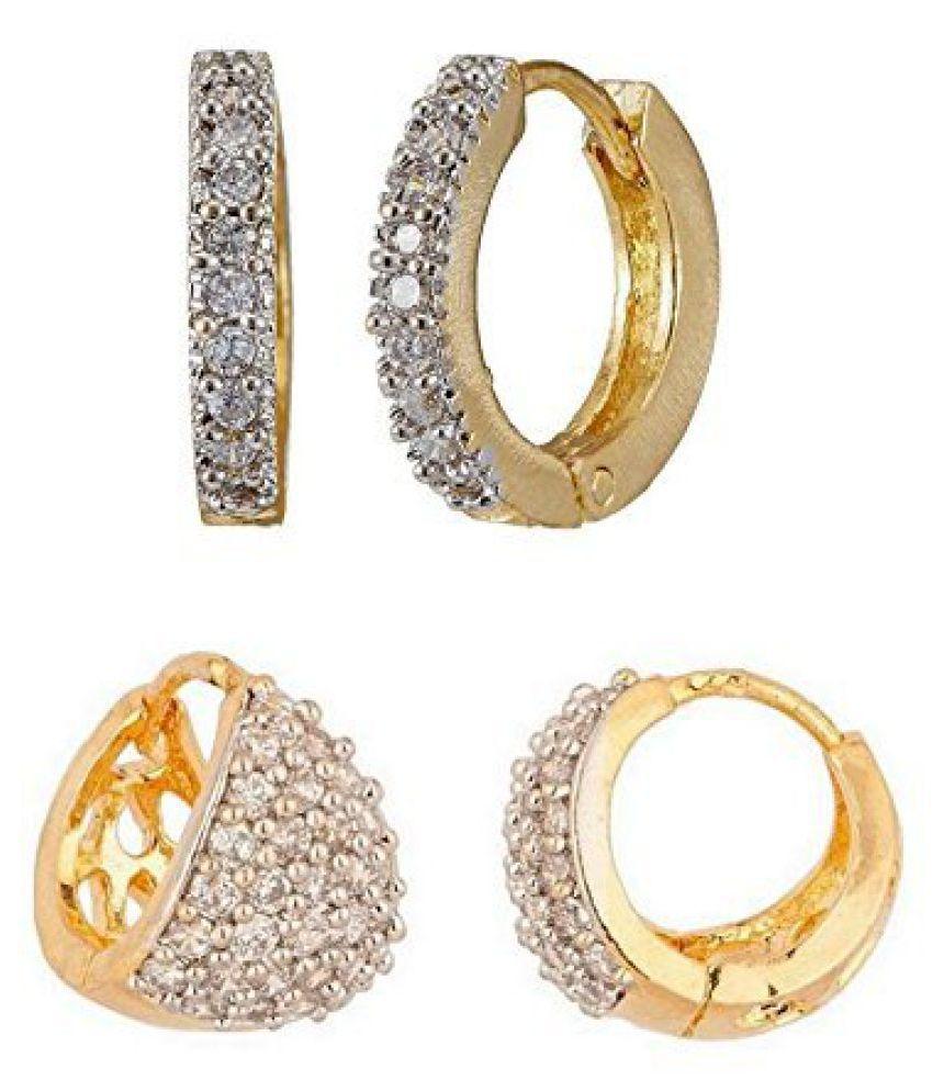 Youbella Golden Hoop  Designer Earrings 2 Pair