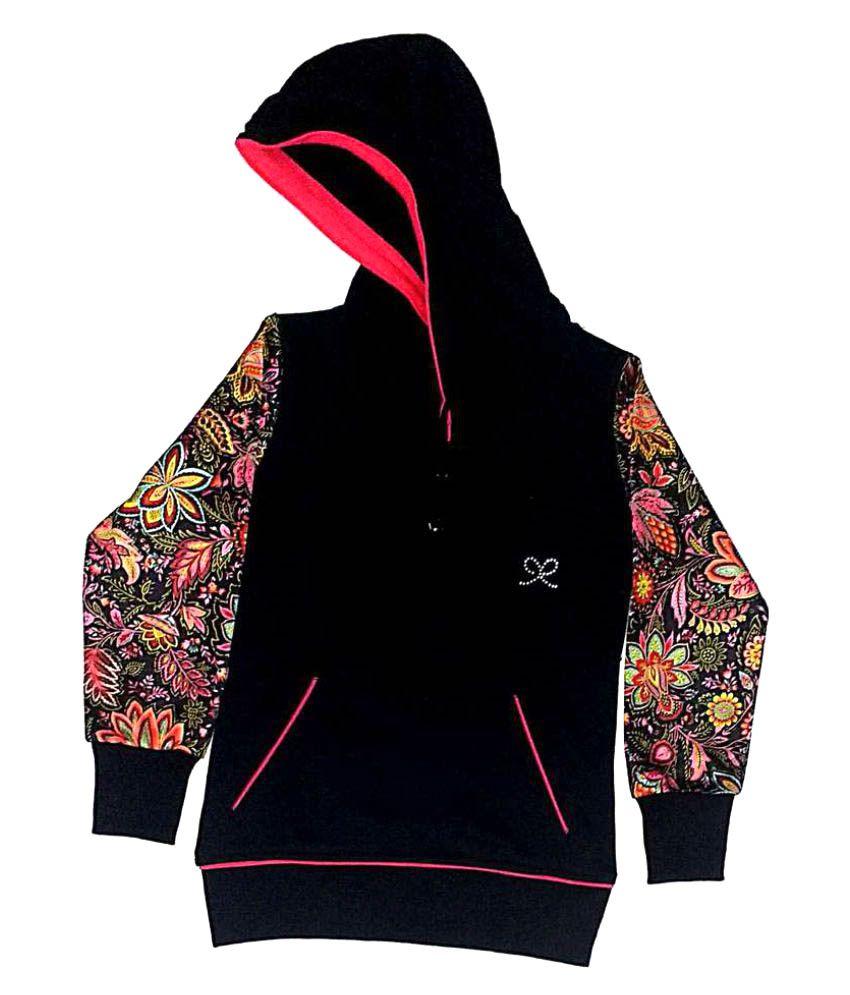 Cuddlezz Black Fleece Sweatshirts for Girls