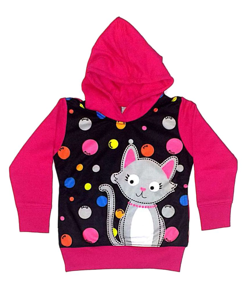 Cuddlezz Multicolored Fleece Girls Sweatshirts