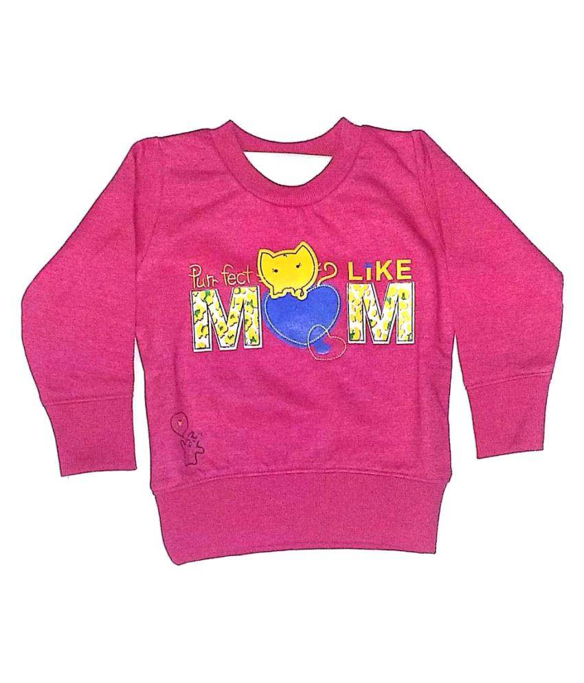Cuddlezz Pink Crew Neck Sweatshirt
