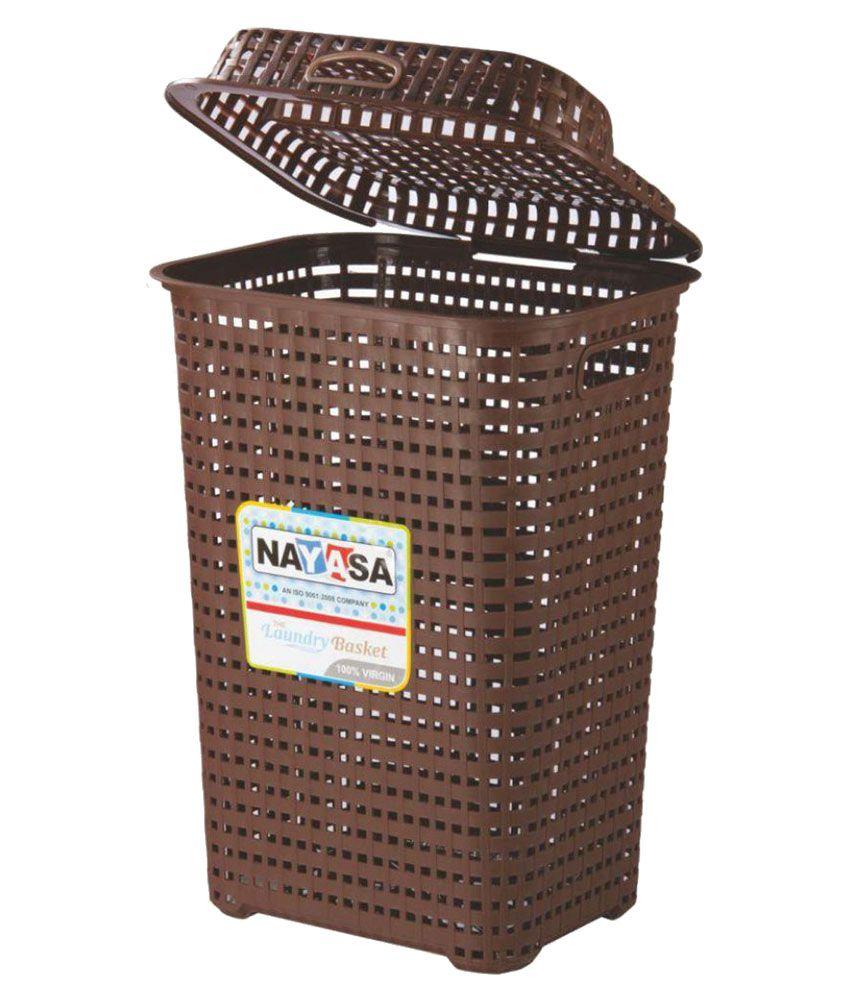 Nayasa Brown Plastic Laundry Basket Buy Nayasa Brown