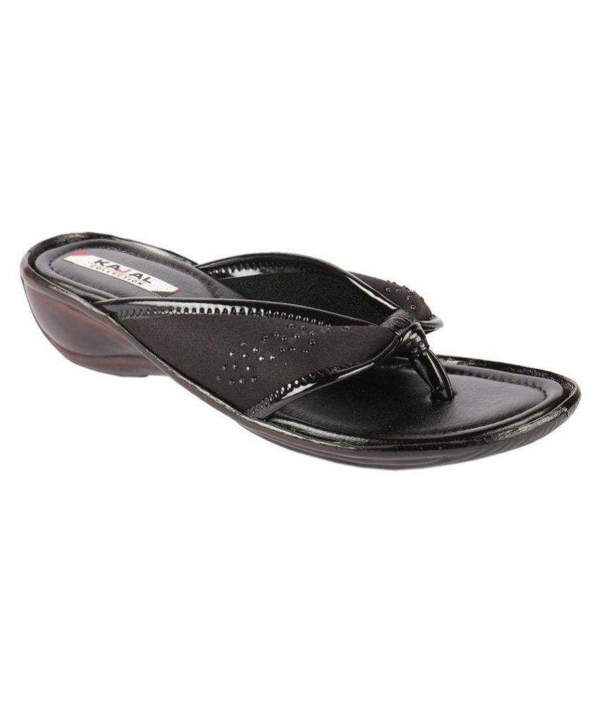 Part Of Life Black Slippers