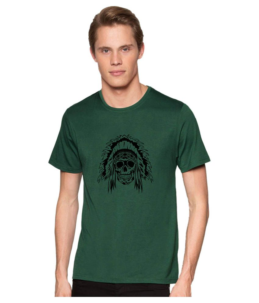 Redfool Fashions Green Round T-Shirt