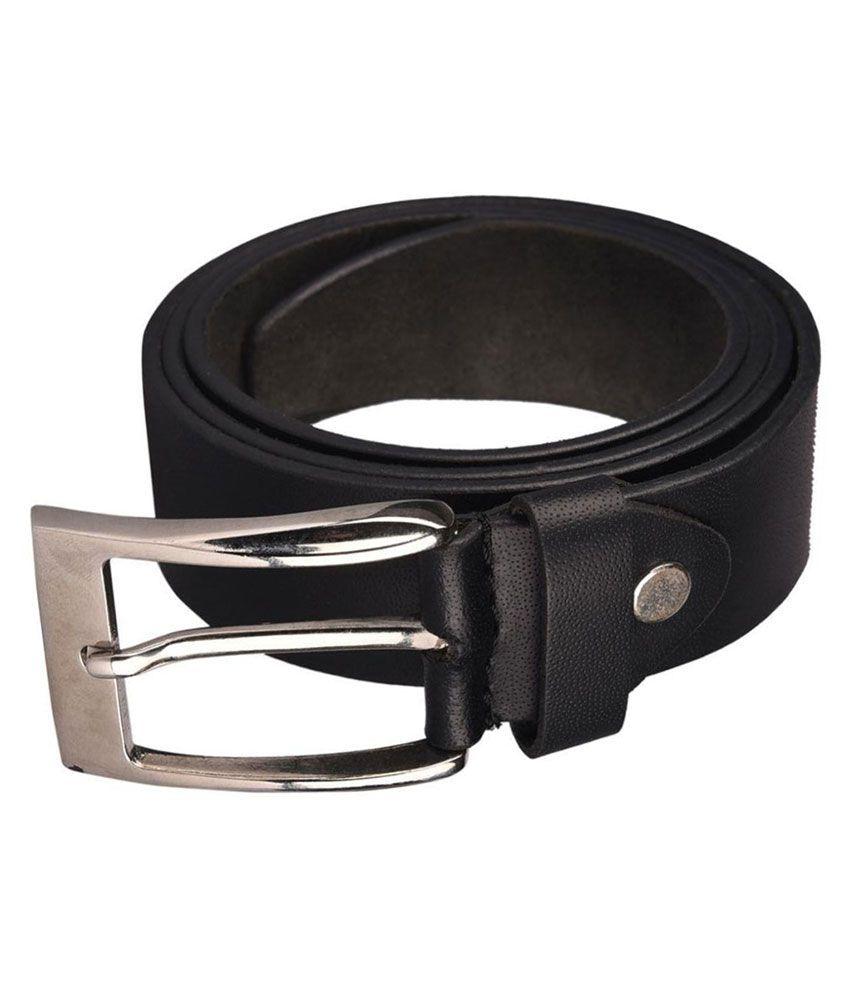 B&W Black Leather Casual Belts