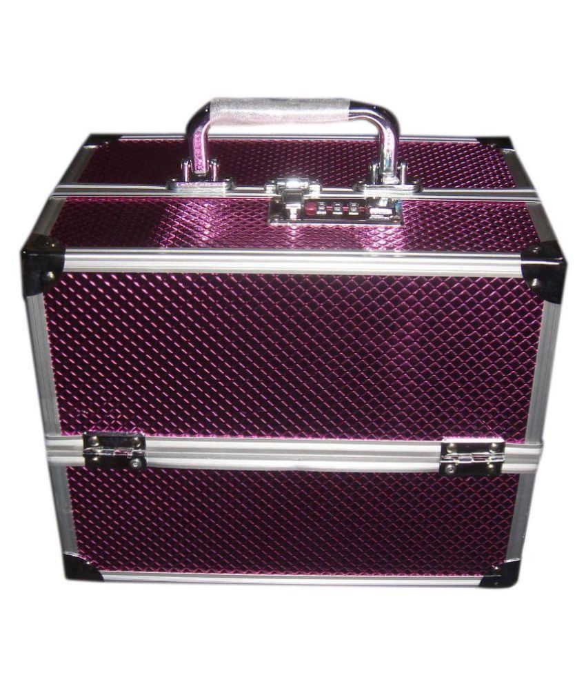 Bonanza Pink Metal Cosmetic Vanity Box
