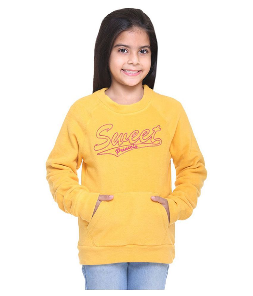 Kids-17 Yellow Fleece Sweatshirt