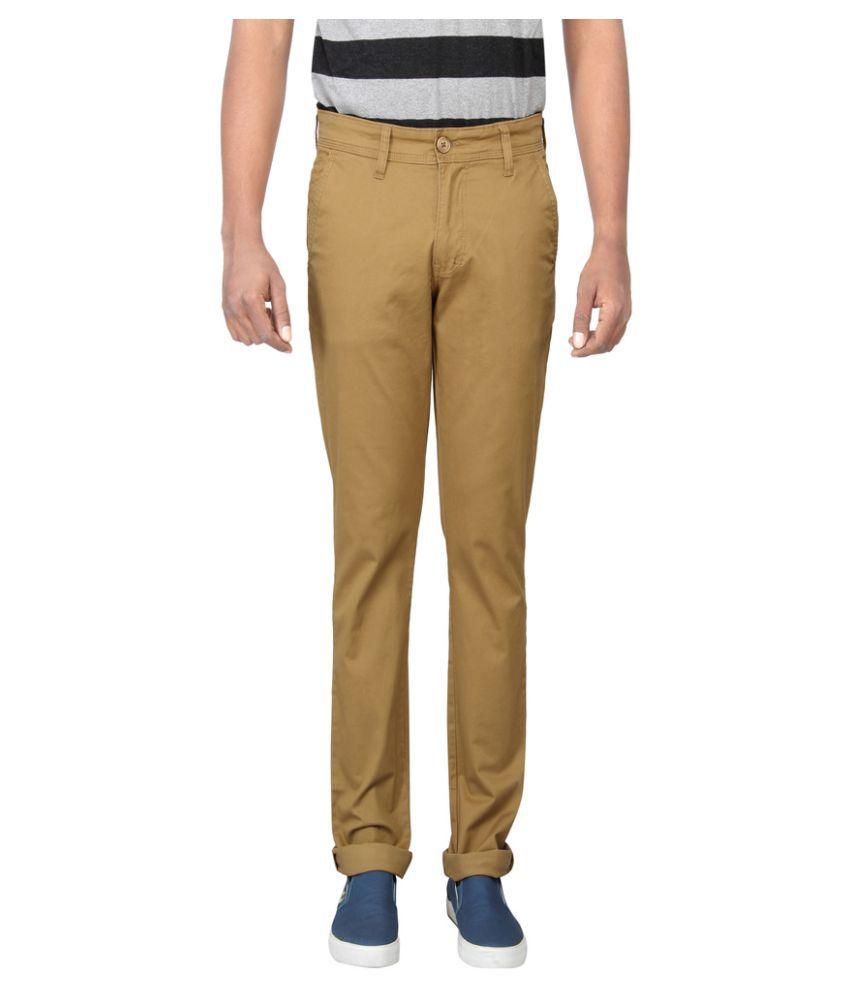 Pepe Jeans Brown Slim Flat Chinos