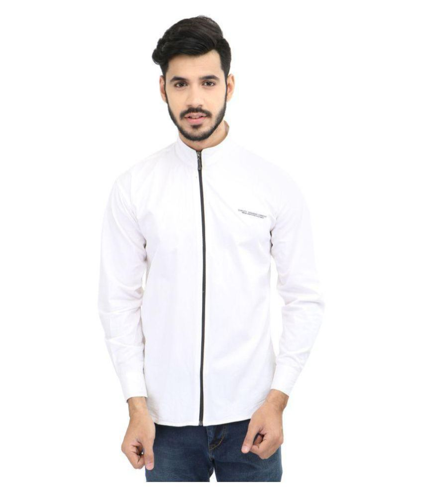 Focil White Casuals Slim Fit Shirt