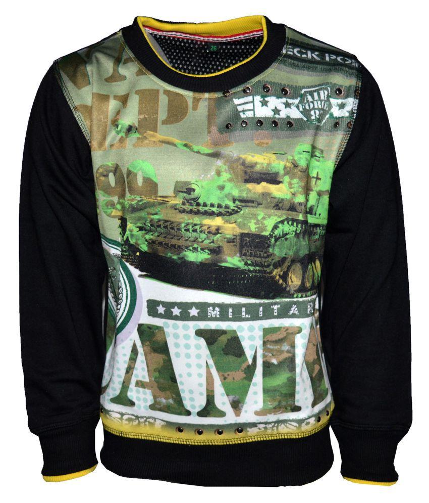 Vinenzia Black Boy's Sweatshirt