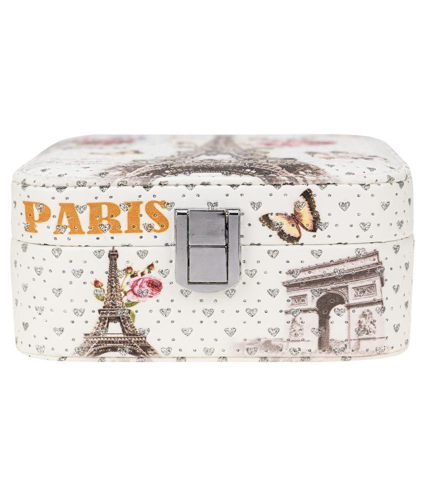 Kaos White Wooden Designer Vanity Box