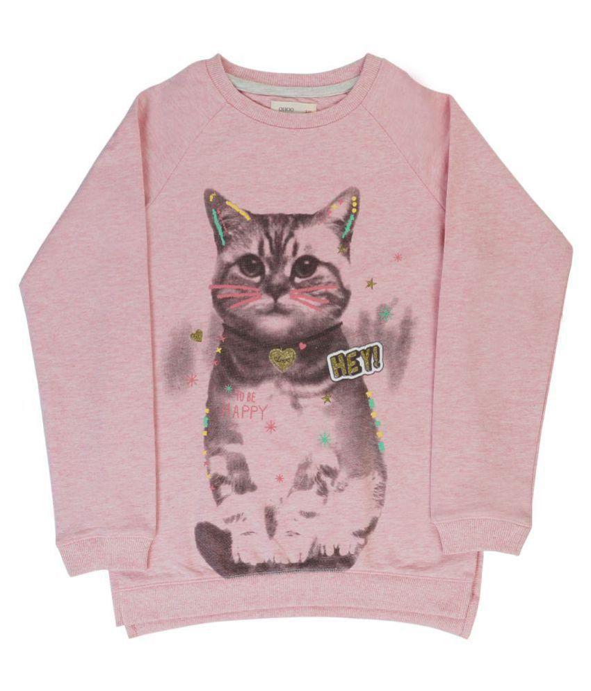 Indirang Pink Crew Neck Sweat T-shirt
