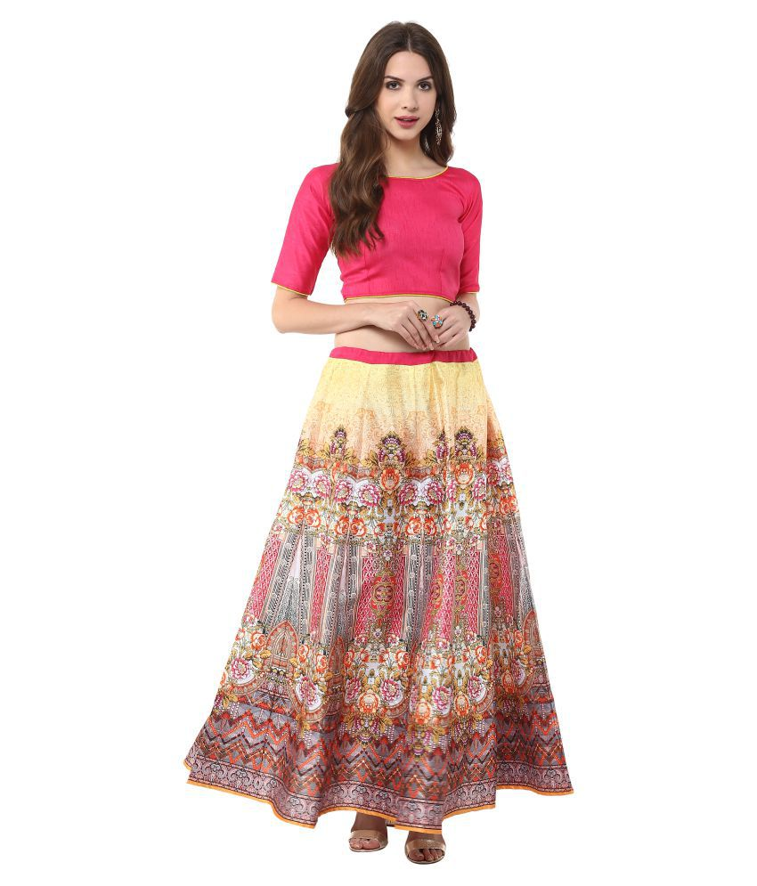 031942e88fcc56 Buy Janasya Silk Straight Skirt Online at Best Prices in India ...