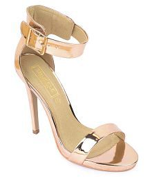 Truffle Collection Gold Stiletto Heels