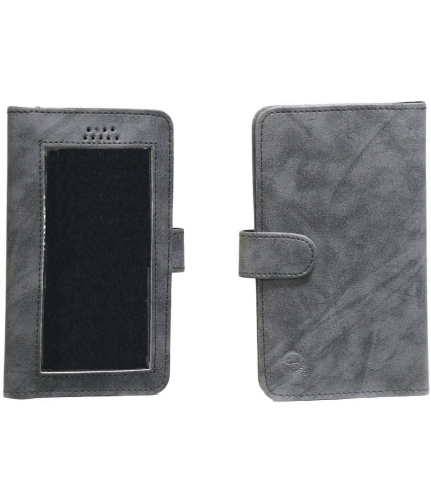 Micromax Bolt A40 Holster Cover by Jojo - Grey